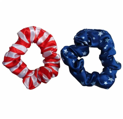 Ampro Patriotic Scrunchies - Red/White/Blue Perspective: front