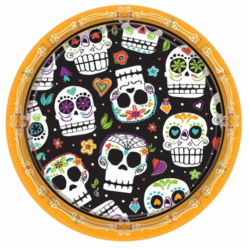 Ampro Day of the Dead Plates - 8 Pack Perspective: front