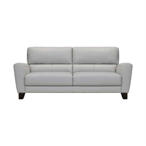 Kester 81  Square Arm Leather Sofa Perspective: front