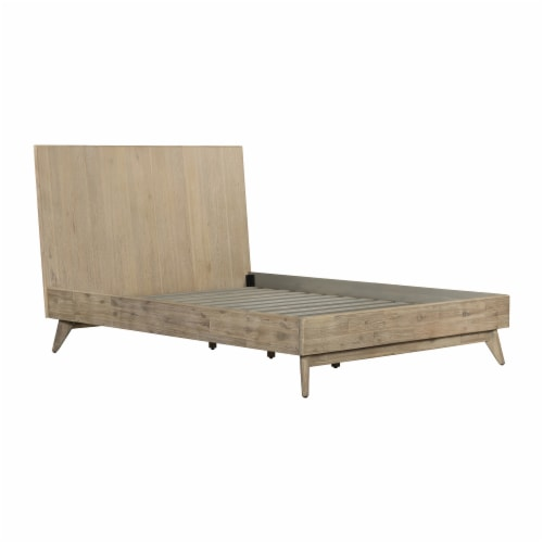 Baly 4 Piece Acacia Queen Loft Bedroom Set with Dresser and Nightstands Perspective: front