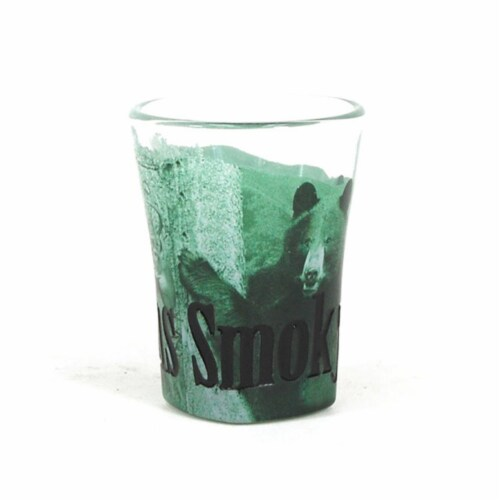 Americaware SGSMT01 Smoky Mountains Duo Tone Etched Shot Glass Perspective: front
