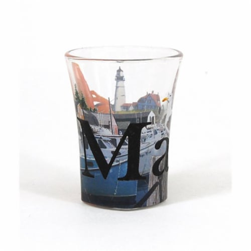 Americaware SGMAI01 Maine Full Color  Etched  Shot Glass Perspective: front