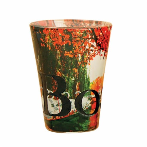 Americaware SGBOS02 Boston Full Color  Etched  Shot Glass Perspective: front