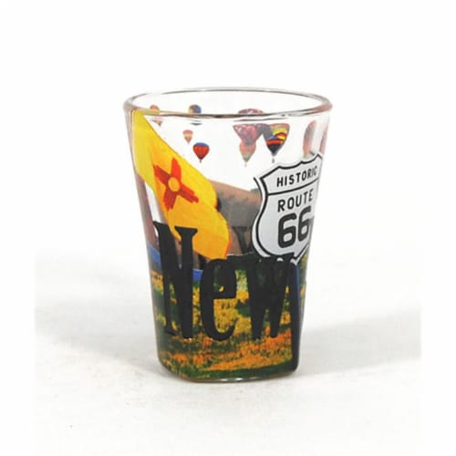Americaware SGNMX01 New Mexico Full Color  Etched  Shot Glass Perspective: front