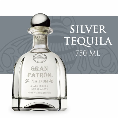 Gran Patron Platinum Silver Tequila Perspective: front