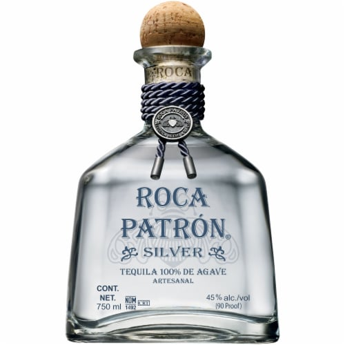 Roca Patron Silver Tequila Perspective: front