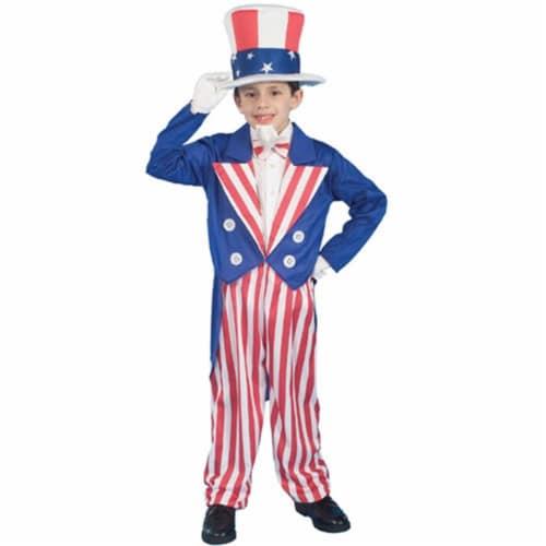 Forum Novelties Inc 20755 Uncle Sam Child Costume Size Medium- Size 8-10 Perspective: front