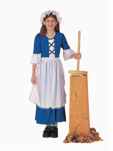 Seasons Children's Small 4-6 Colonial Miss Costume Perspective: front