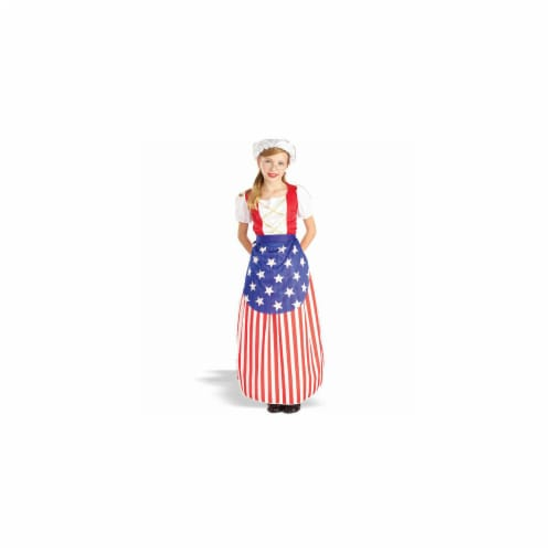 Forum Novelties Inc 19330 Betsy Ross - Heroes In History Child Costume Size Small-  Size 4-6 Perspective: front
