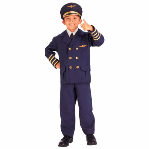 Forum Novelties Inc 31167 Airline Pilot Child Costume Size Small 4-6 Perspective: front