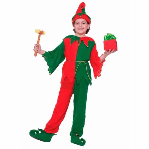 Forum Novelties Costumes 275399 Santas Elf Child Costume - Medium Perspective: front