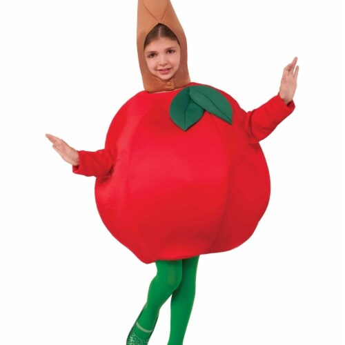 Forum Novelties 243434 Apple Child Costume, Red - One Size Perspective: front