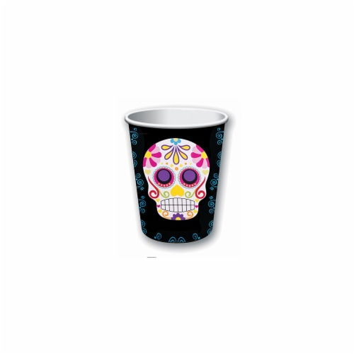 Forum FM77327 9 oz Day of the Dead Party Cups - 8 Piece Perspective: front