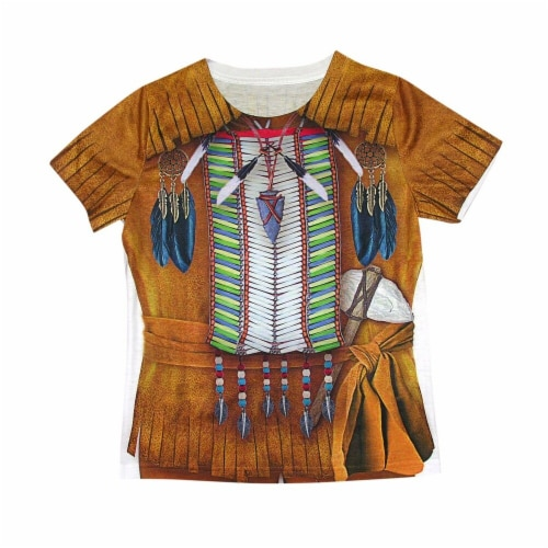 Forum Novelties 272536 Young Indian Brave Sublimation Child Tee - Small Perspective: front