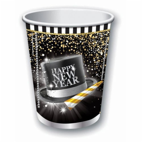 Forum Novelties 9 oz New Years Cup, Pack of 8 Perspective: front