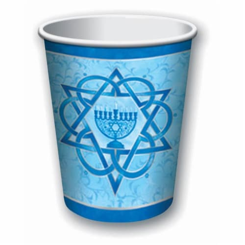 Forum Novelties 9 oz Chanukah Cup, Pack of 8 Perspective: front