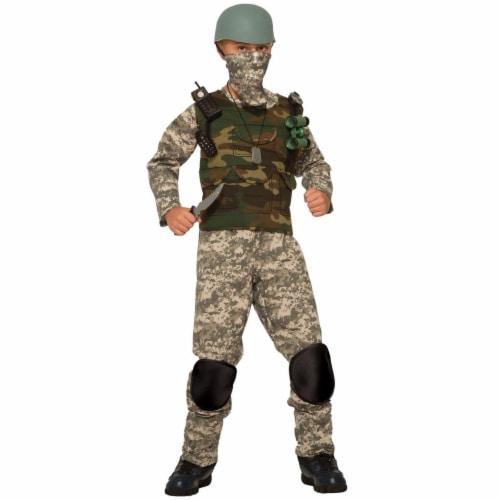 Forum Novelties 277496 Halloween Boys Combat Trooper Costume - Medium Perspective: front