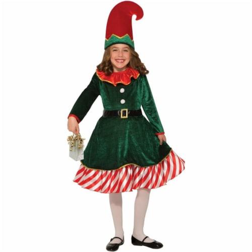 Forum Novelties 277565 Halloween Kids Santas Little Elf Costume - Small Perspective: front