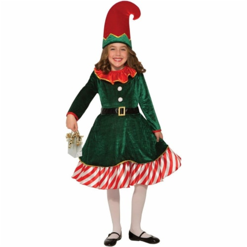 Forum Novelties 277563 Halloween Kids Santas Little Elf Costume - Large Perspective: front