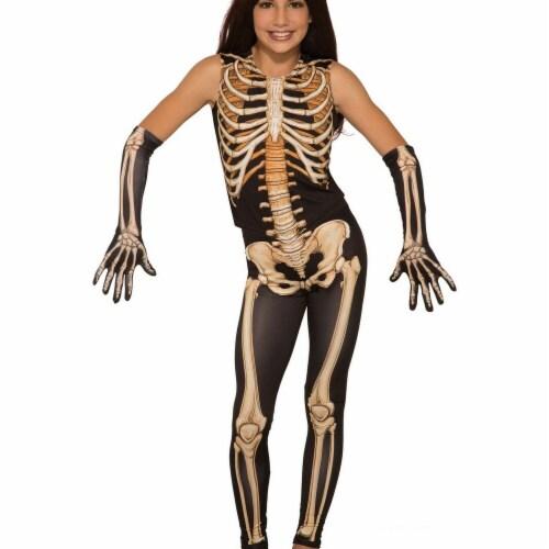 Forum Novelties 277610 Halloween Girls Pretty Bones Costume - Large Perspective: front