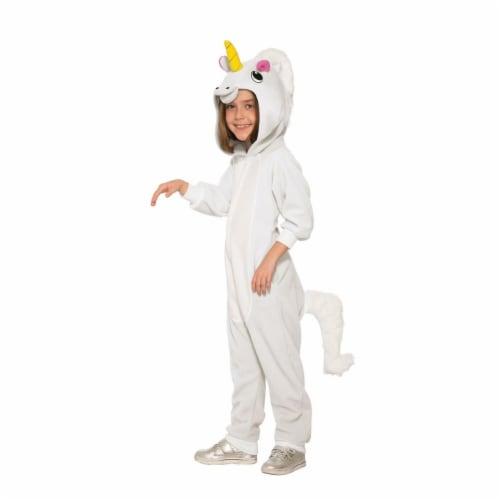 Forum Novelties 277661 Halloween Girls Unicorn Jumpsuit Costume - Medium Perspective: front