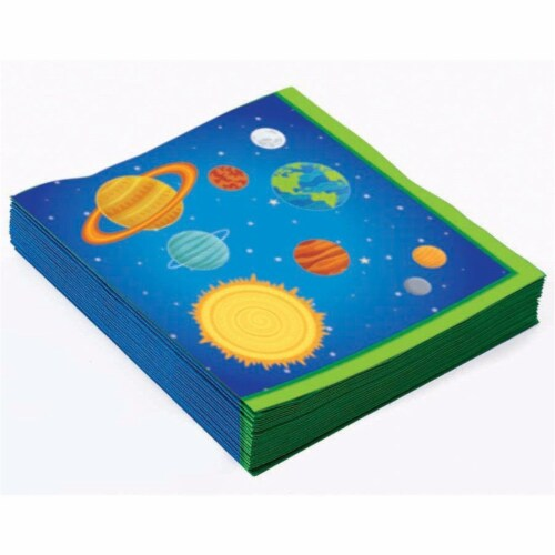 Forum Novelties 306831 Space Rocket Lunch Napkin, Pack of 16 Perspective: front