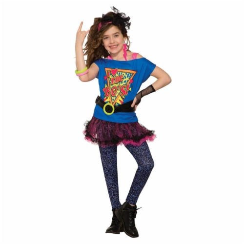 Forum Novelties 277749 Halloween Girls Totally 80s Costume - Small Perspective: front