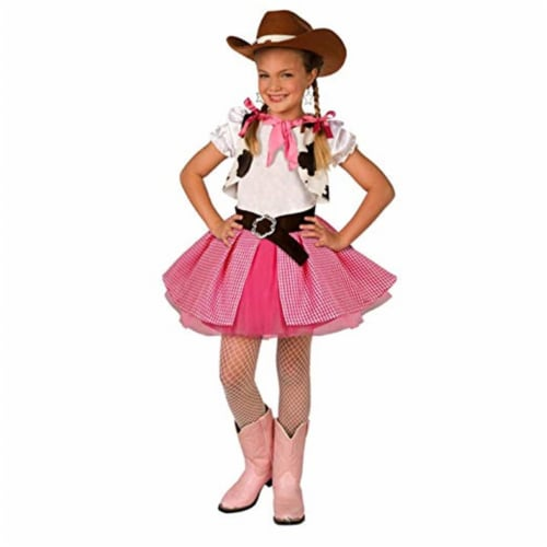 Forum Novelties 414302 Child Cowgirl Costume, Pink - Medium Perspective: front