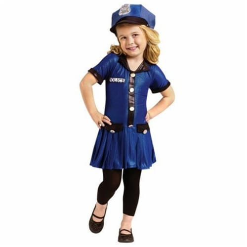 Forum Novelties 414307 Child Police Girl Costume, Large Perspective: front