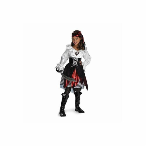 Forum Novelties 414283 Child Pirate Lass Costume for Girls, Extra Large Perspective: front