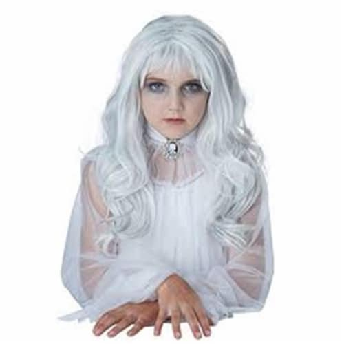Forum Novelties 414278 Childrens Ghost Wig for Girls, One Size Perspective: front