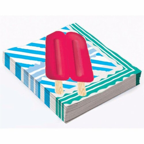 Forum Novelties 641742 Popsicle Party Beverage Napkins - Pack of 16 Perspective: front