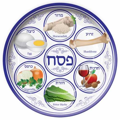 Seder Plate Perspective: front