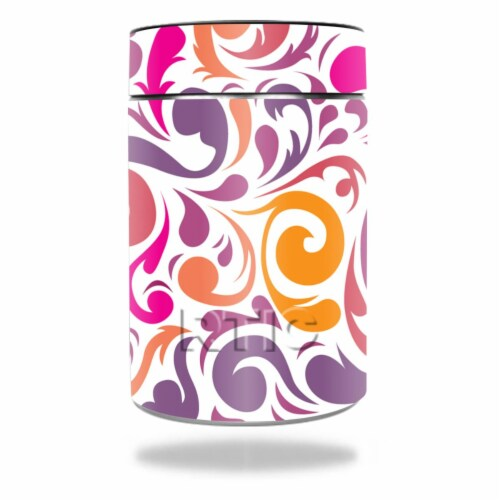 MightySkins RTCAN-Swirly Girly Skin for RTIC Can 2016 Wrap Cover Sticker - Swirly Girly Perspective: front