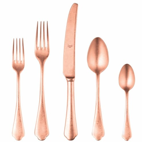 Mepra 106422020PB Dolce Vita Pewter Bronze Cutlery Set - 20 Piece Perspective: front