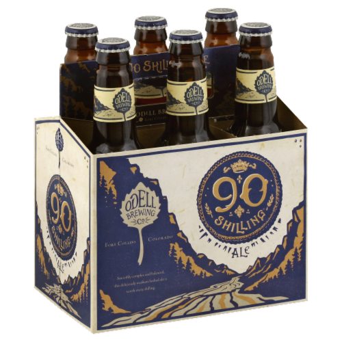 Odell Brewing Co. 90 Shilling Ale Perspective: front