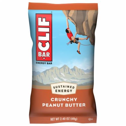 Clif Bar Crunchy Peanut Butter Energy Bar Perspective: front
