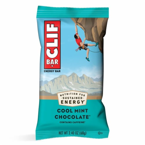 Clif Bar Cool Mint Chocolate Energy Bar Perspective: front