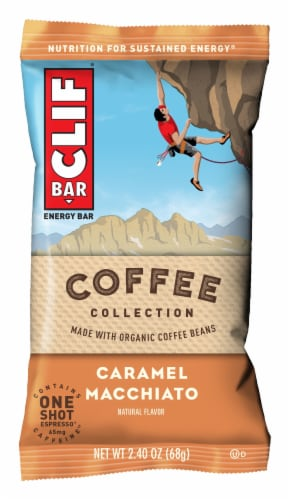 Clif Bar Coffee Collection Caramel Macchiato Energy Bar Perspective: front