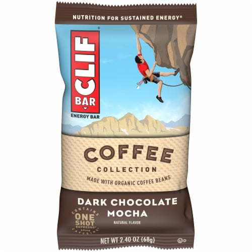 Clif Bar Coffee Collection Dark Chocolate Mocha Energy Bar Perspective: front