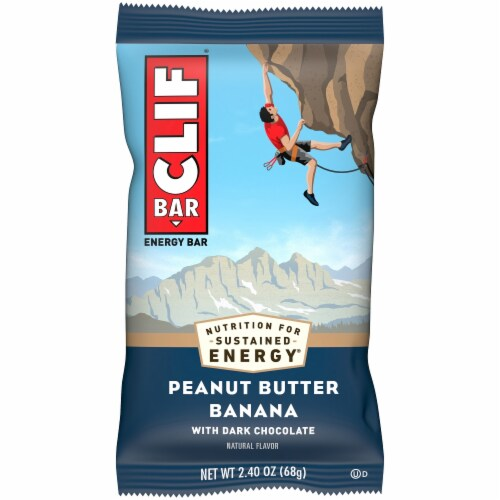 Clif Bar Peanut Butter Banana Dark Chocolate Energy Bar Perspective: front