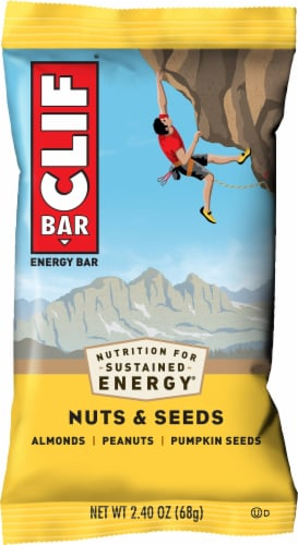 Clif Bar Nuts & Seeds Energy Bar Perspective: front