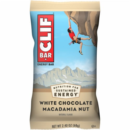 Clif Bar White Chocolate Macadamia Nut Energy Bar Perspective: front