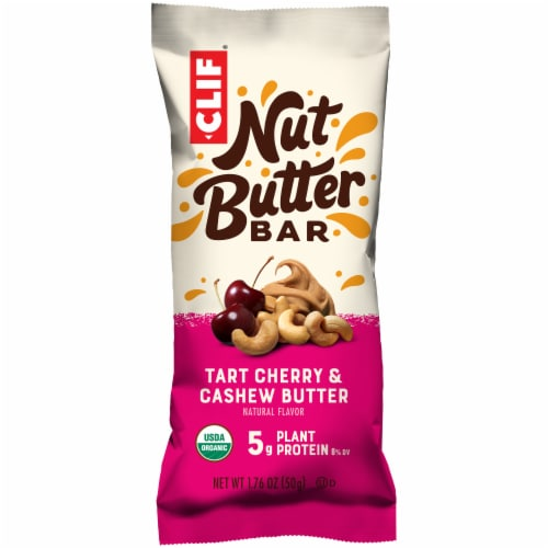 Clif Bar Nut Butter Filled Tart Cherry and Cashew Butter Energy Bar Perspective: front