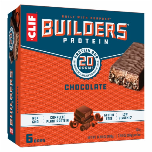Clif Bar Builders Chocolate Protein Bars Perspective: front