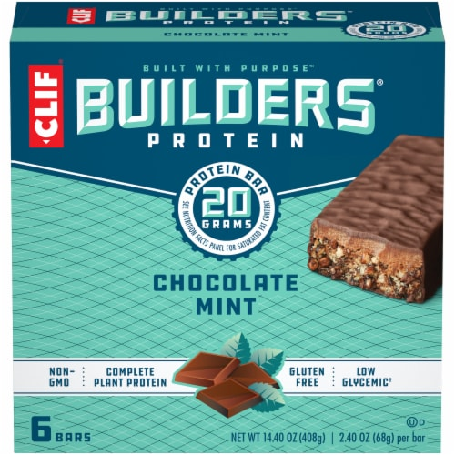 Clif Bar Builders Chocolate Mint Protein Bars Perspective: front