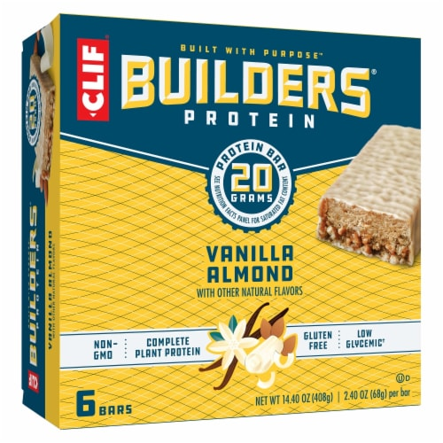 Clif Bar Builders Vanilla Almond Protein Bars Perspective: front