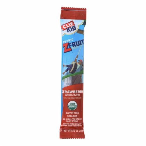 Clif Kid® Organic ZFruit Strawberry Twisted Fruit Snack Perspective: front