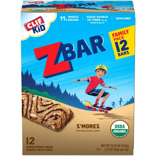 Clif Kid Z Bar S'mores Snack Bars Perspective: front