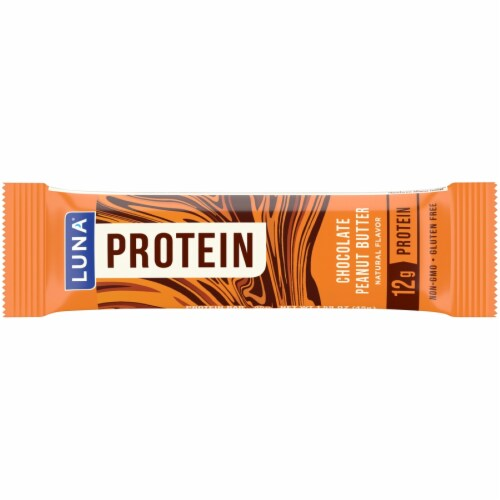 Luna Chocolate Peanut Butter Protein Bar Perspective: front